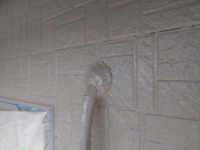 エアコン配管穴の補修