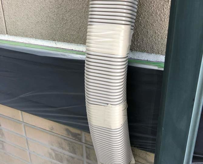 エアコン配管カバー補修