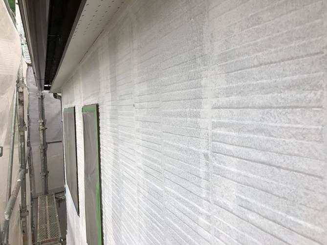 外壁下塗り完了