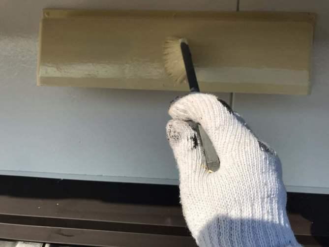 付帯部塗装作業