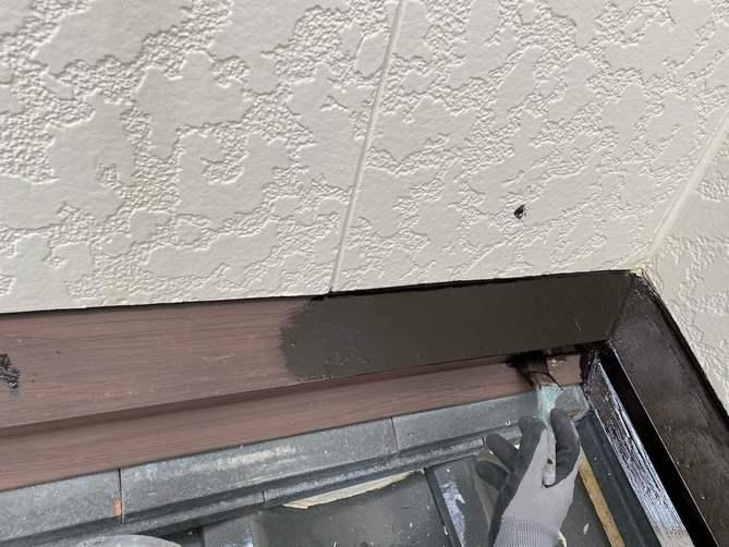 錆止め塗料塗布作業