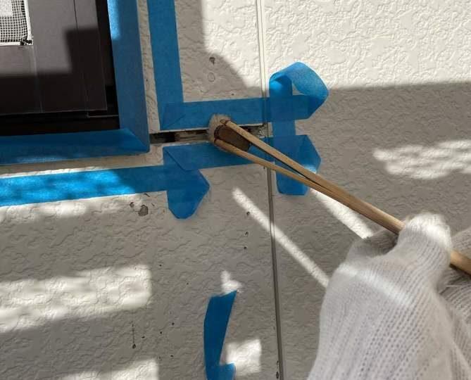 シーリングプライマー塗布作業