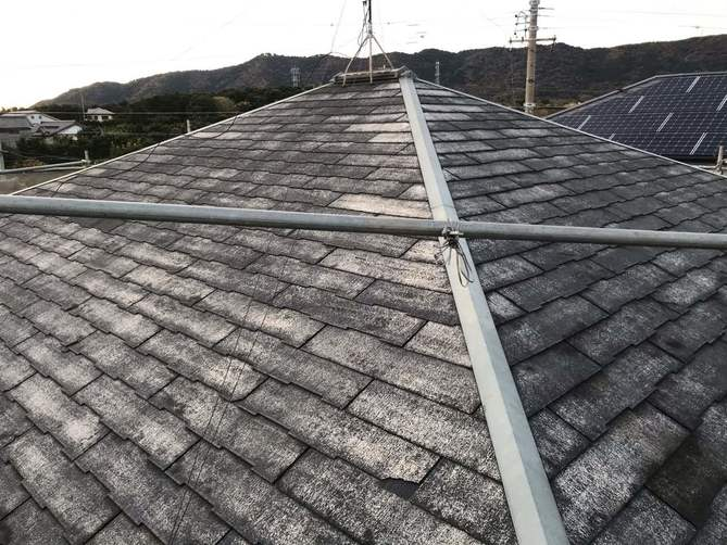 屋根水洗い完了