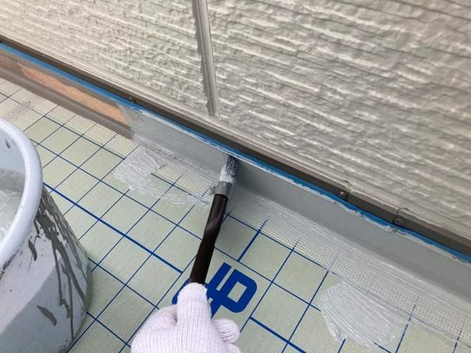 ベランダ防水 ウレタン塗布作業