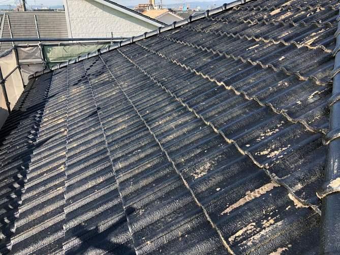 屋根 下塗り完了