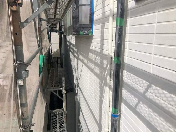外壁 下塗り完了