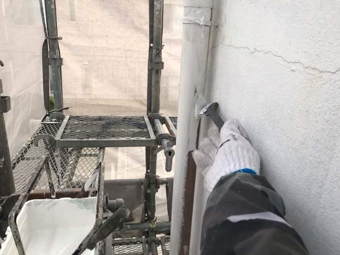 付帯部下塗り作業