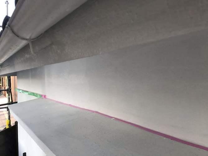 外壁(モルタル部分)下塗り完了