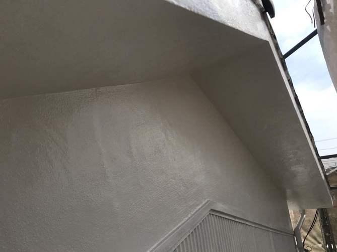 外壁(モルタル部分)中塗り完了