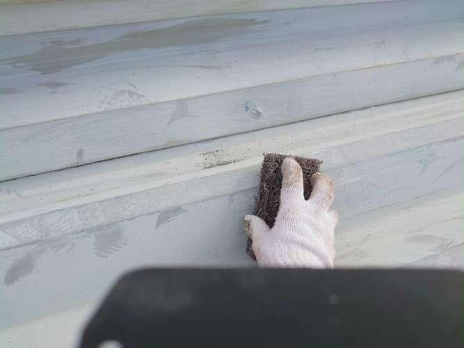 折半屋根 ケレン作業