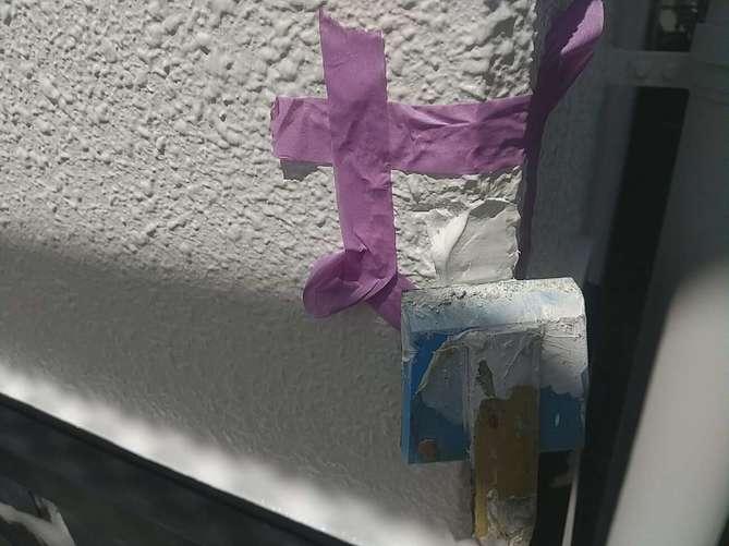 外壁補修 均し作業