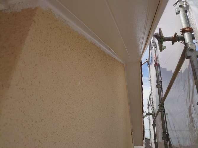 軒天塗装完了
