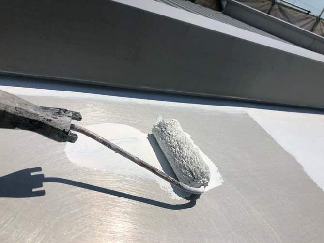 付帯部下塗り作業(錆止め)