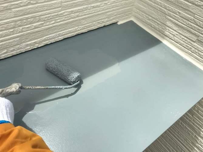 付帯部上塗り作業